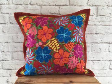 red-pillow-cover-multi-flower