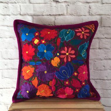 purple-pillow-cover-multi-flower